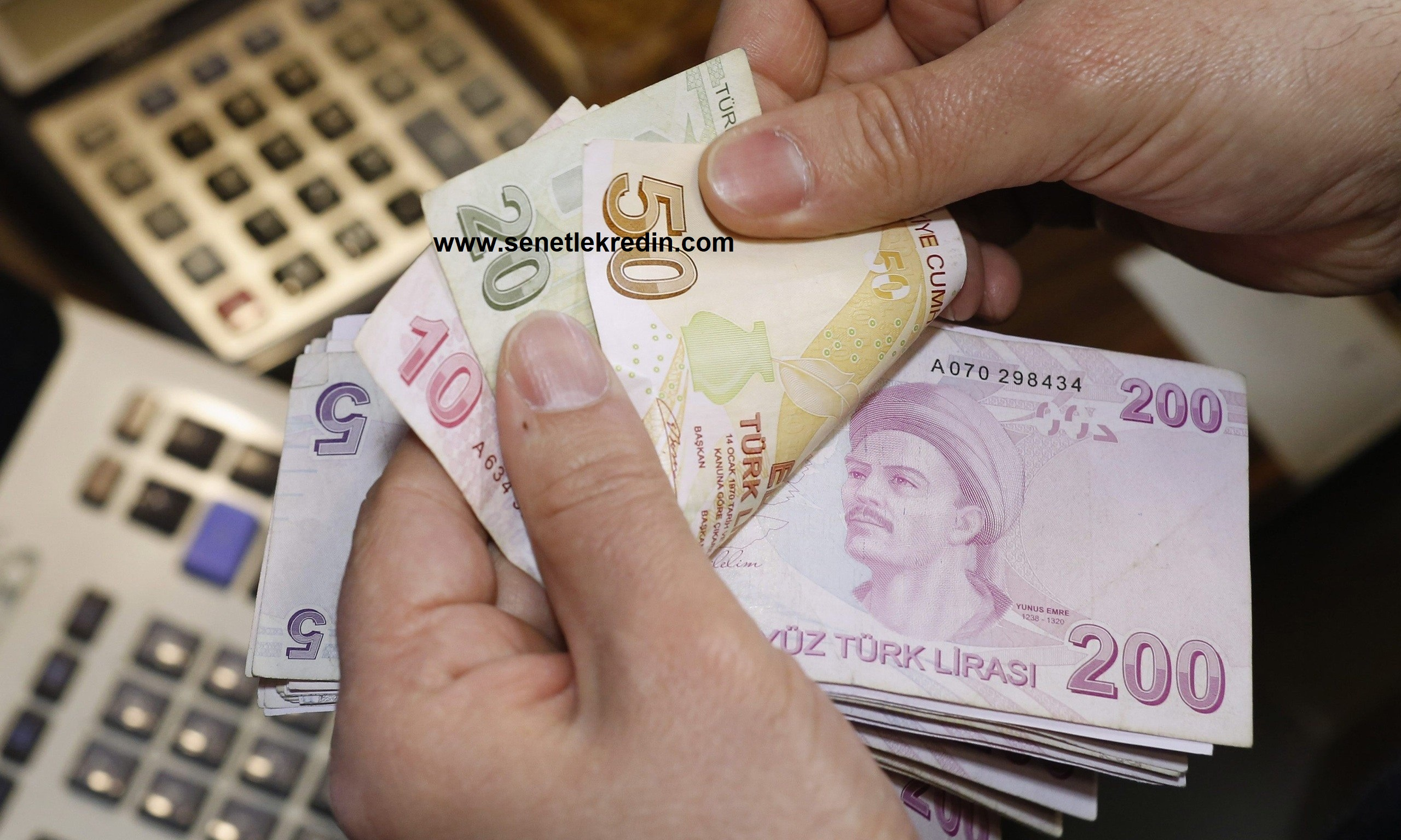 Turkish lira bills at a currency exchange office in Istanbul